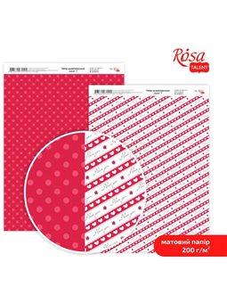 """Дизайнерський папір двостороння матова """"Love"""" 7, 21х29,7 см, 200 г / м2, ROSA TALENT 5318055"""