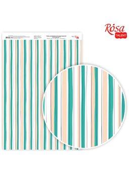 """Дизайнерський папір одностороння """"Floral garden"""" 7, 21х29,7 см, глянцева, 250 г / м2, ROSA TALENT 5311124"""
