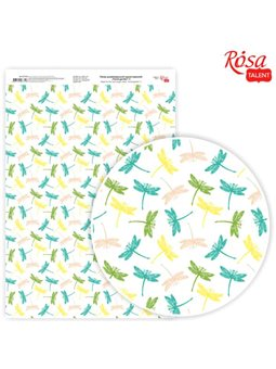 """Дизайнерський папір одностороння """"Floral garden"""" 4, 21х29,7 см, глянцева, 250 г / м2, ROSA TALENT 5311121"""
