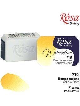 Краска акварельная, Охра желтая, 2,5мл, ROSA Gallery 343719