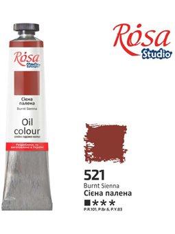 Фарба олійна, Сієна палена, 60мл, ROSA Studio 326521