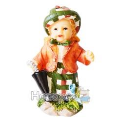 Фигурка керамическая Девочка с зонтиком