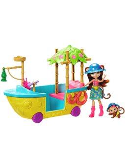 """Набор """"Лодка с Джунглолису обезьянки Мерит"""" Enchantimals GFN58"""