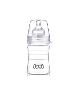 Бутылочка стеклянная LOVI 150 ml - Diamond Glass [74/100]
