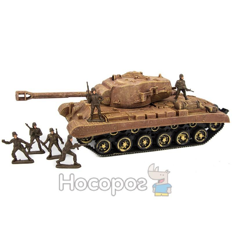 Фото Набор военный М 48 А (танк инертный, 6 солдатиків) (24)