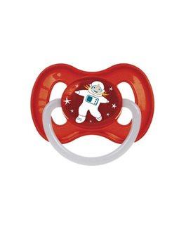 Пустышка латексная круглая 0-6 м-цев space [23/221_red]