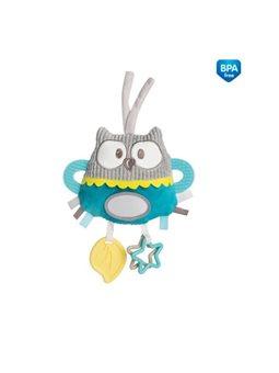 Canpol babies Игрушка плюшевая развивающая к кроватке / тележки Pastel Friends - коралловая [68/065_tur]
