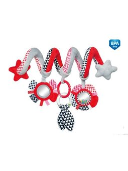 Canpol babies Игрушка мягкая которая спираль к кроватке / тележки Zig Zag - голубая [68/063_red]