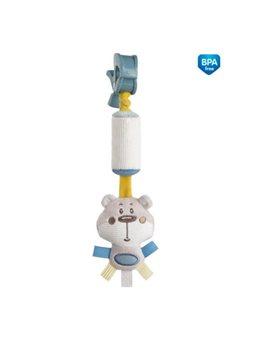 Canpol babies Игрушка плюшевая с колокольчиком Pastel Friends - коралловая [68/066_grey]