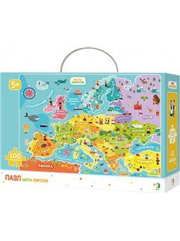 Пазл DoDo Карта Европы на украинском языке 100 элементов [300129]