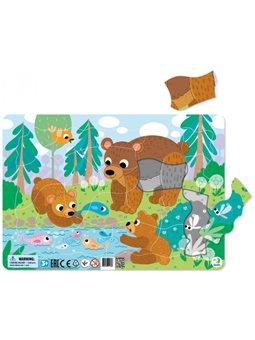 Пазл с рамкой DoDo Медвежата 21 элемент + подложка [R300221]