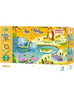 Пазл - сортер DoDo Африка 12 елементів + 6 елементів сортерів [300159]