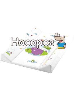 Пеленальный матрасик Keeeper Hippo Белый [9939]