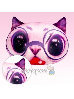 """Антистресова іграшка м'яконабивна """"SOFT TOYS """"Кіт глазастий"""" рожевий DT-ST-01-03"""