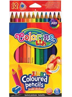Карандаши цветные Colorino Jumbo 17.5 см с точилки 12 цветов [15530PTR / 1]