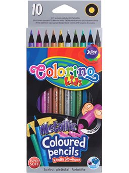 Карандаши Colorino Металлик 10 цветов круглые [34678PTR]
