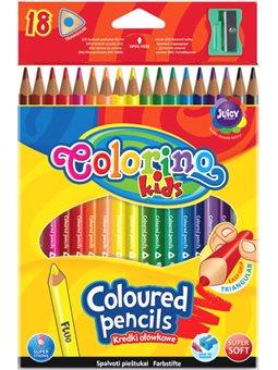 Карандаши цветные треугольные Colorino 18 цветов [57431PTR]
