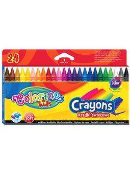Карандаши Colorino 24 цвета восковые [13895PTR]