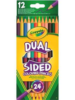 Набор двусторонних цветных карандашей Crayola 12 шт [68-6100]