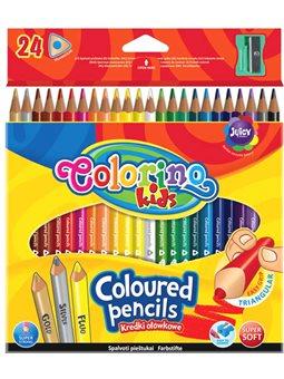 Карандаши Colorino Треугольные 24 цвета с точилкой [57462PTR]