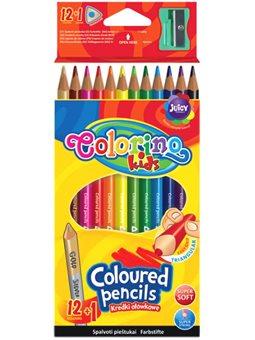 Карандаши цветные треугольные Colorino 12 цветов [54706PTR]