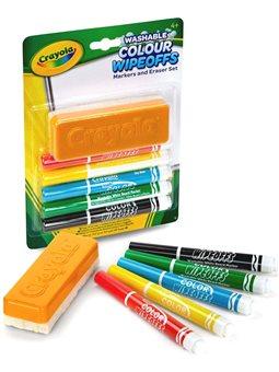 Фломастери для дошки Crayola 5 шт зі щіткою [98-9302]