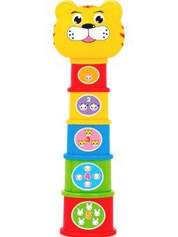 Детская игрушка Пирамидка Веселый зоопарк BeBeLino [57022]