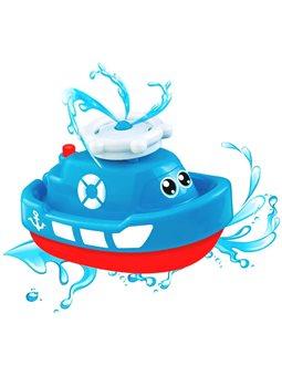 Игрушка для купания Bebelino Лодка-фонтан [58049]