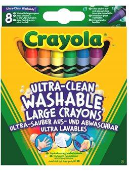 8 великих воскових крейд що змиваються Crayola [52-3282]