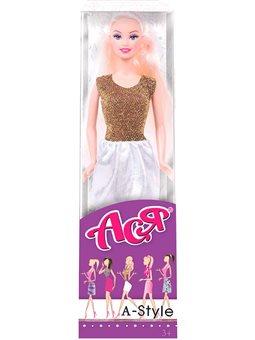 Кукла Ася А-стиль блондинка золота платье 28 см [35128]