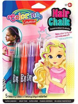 Карандаши для волос Colorino 5 стандартных цветов [68659PTR]