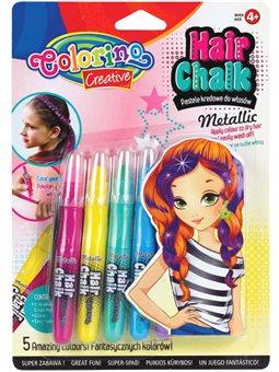 Карандаши для волос Colorino 5 цветов металлик [68680PTR]