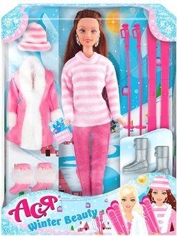 Кукла Ася Зимняя красавица брюнетка 28 см [35130]