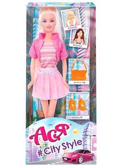 Кукла Ася Стиль большого города блондинка в юбке 28 см [35123]