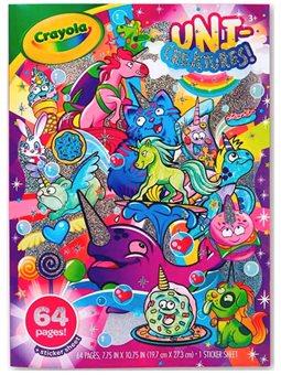 Раскраска Crayola Уникальные существа с наклейками [04-0542]