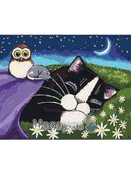 Картина по номерам Спящие малыши КНО4048