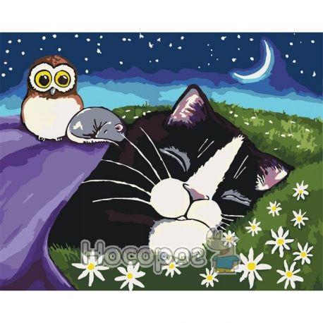 Фото Картина по номерам Спящие малыши КНО4048