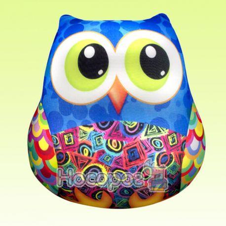 Антистрессовая игрушка мягконабивная SOFT TOYS 36 Сова синяя DT-ST-01-36