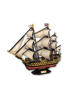 Пазл CubicFun Парусник 3D HMS VICTORY 189 элементов [6944588240196]
