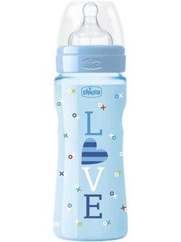 Бутылочка пластиковая Well-Being Special Edition, 330мл, соска силикон, 4 m + [09563.00]