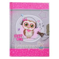 Блокнот дитячий А6 на замку Kidis Cute little owl 6034