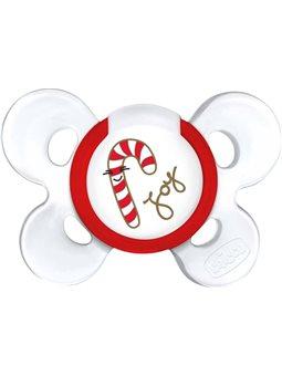Пустышка Physio Сomfort Christmas, силикон, 6-12m (1шт) [55617.00]