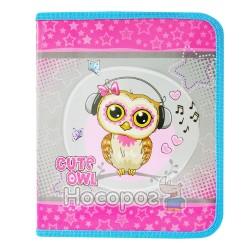 Папка дитяча Cute little owl 7377 Kidis В5 для зошитів, картонна на замку