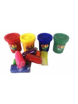 Набір креативного творчості пальчикові фарби 4 баночки + тісто для ліплення PK-03-01
