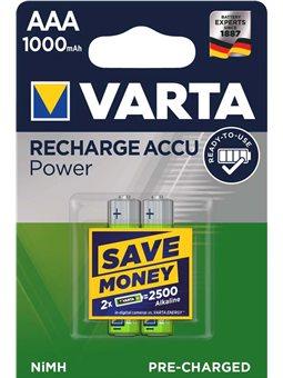 Акумулятор VARTA RECHARGEABLE ACCU AAA 1000mAh BLI 2 NI-MH (READY 2 USE) [05703301402]