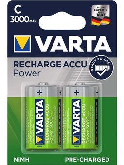 Аккумулятор VARTA RECHARGEABLE ACCU C 3000mAh BLI 2 NI-MH (READY 2 USE) [56714101402]