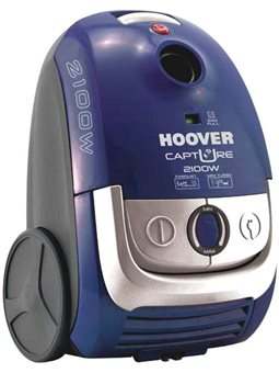 Пылесос с мешком Hoover TCP2120 019 2100Вт / 310ВT / 2 .3л / Hepa / турбощiтка / регул.потужн. / Синiй-металiк [TCP2120019]