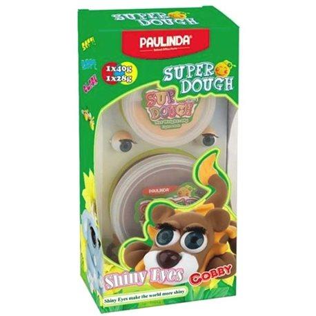 PAULINDA Масса для лепки Super Dough Shiny Eyes Лев Cobby глянцевые глаза [PL-081377-3]