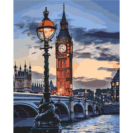 Фото Картина по номерам Лондон в сумерках [КНО3555]