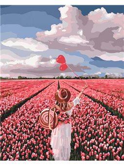 Картина по номерам Розовая мечта [КНО4603]